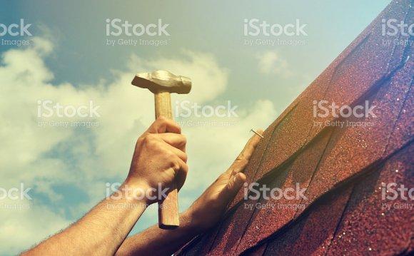 Крыша ремонт Стоковые фото