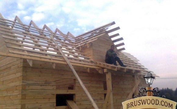 Монтаж крыши дома 6х9
